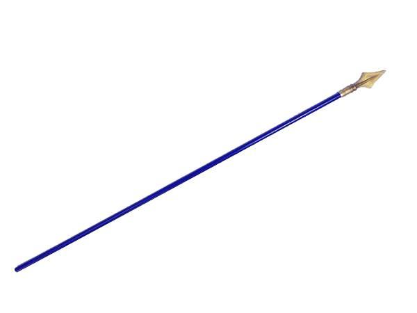 Baton / Hampe en bois bleu avec pointe dorée de 140 cm