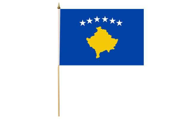Drapeau avec Hampe Kosovo 30 x 45 cm
