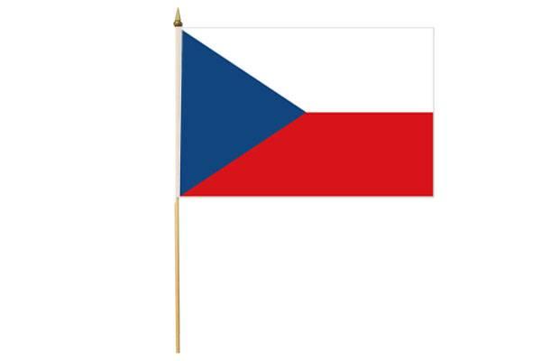 Drapeau avec Hampe République Tchèque 30 x 45 cm