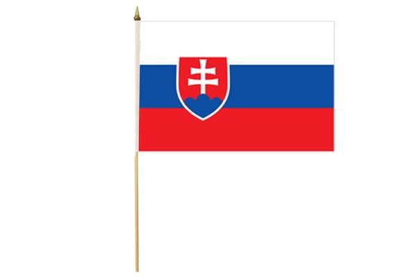 Drapeau avec Hampe Slovaquie 30 x 45 cm
