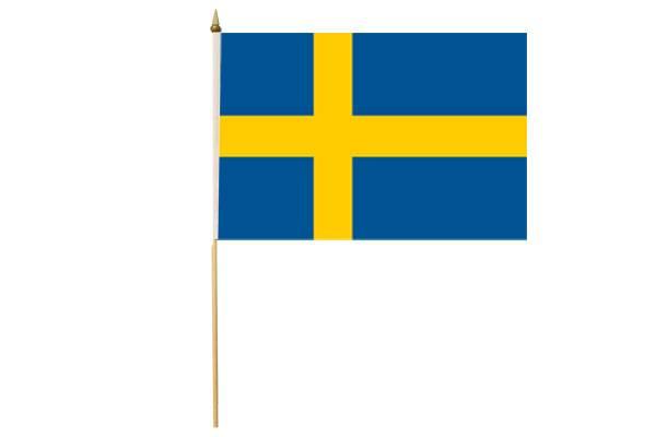 Drapeau avec Hampe Suède 30 x 45 cm