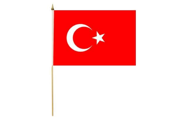 Drapeau avec Hampe Turquie 15 x 20 cm