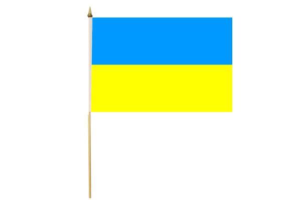 Drapeau avec Hampe Ukraine 30 x 45 cm