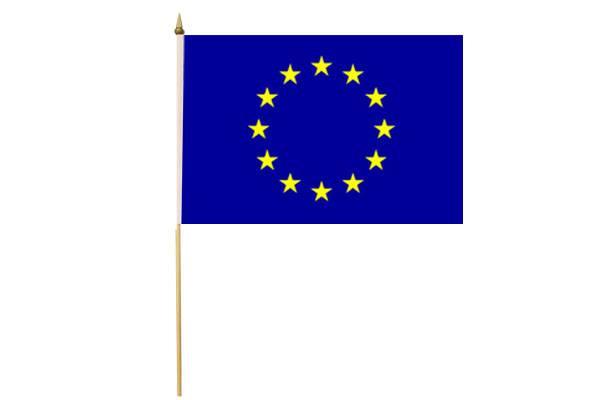 Drapeau avec Hampe Union Européenne 15 x 20 cm