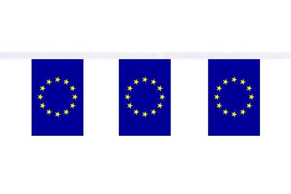 Guirlande 9 mètres de 30 Drapeaux 15 x 22.5 cm Union Européenne