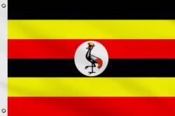 Drapeau Ouganda 90 x 150 cm
