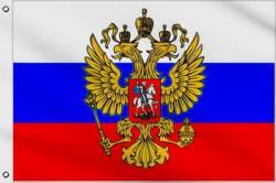 Drapeau Russie avec Aigle 90 x 150 cm
