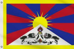 Drapeau Tibet 90 x 150 cm