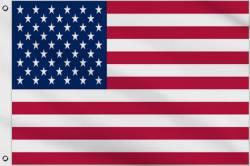 Drapeau en Nylon USA 90 x 150 cm