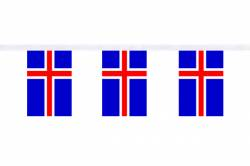 Guirlande 9 mètres de 30 Drapeaux 15 x 22.5 cm Islande