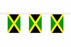 Guirlande 9 mètres de 30 Drapeaux 15 x 22.5 cm Jamaïque