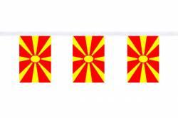 Guirlande 9 mètres de 30 Drapeaux 15 x 22.5 cm Macédoine 1995-Présent
