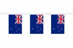Guirlande 9 mètres de 30 Drapeaux 15 x 22.5 cm Nouvelle-Zelande