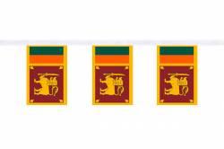 Guirlande 9 mètres de 30 Drapeaux 15 x 22.5 cm Sri Lanka