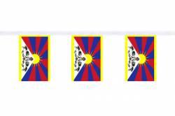 Guirlande 9 mètres de 30 Drapeaux 15 x 22.5 cm Tibet