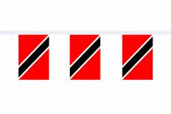 Guirlande 9 mètres de 30 Drapeaux 15 x 22.5 cm Trinité-et-Tobago