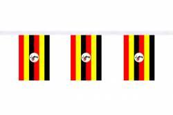 Guirlande 9 mètres de 30 Drapeaux 15 x 22.5 cm Ouganda