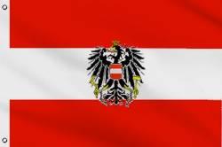 Drapeau Autriche avec Aigle 60 x 90 cm