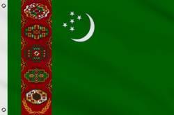 Drapeau Turkménistan 60 x 90 cm